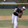 Lawrence pitcher, Brahiam Ortega in action.  Lawrence defeated Norrth Andover 3-2 in nine innings in Friday baseball action. 4/11/2014.