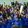 RYAN HUTTON/ Staff photo.<br /> Londonderry High School fans cheer their team on moments from victory.