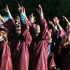 CARL RUSSO/Staff photo. GAZETTE: Whittier Regional Vocational Technical High School graduates celebrate during their ceremony Thursday night. 5/29/2014.