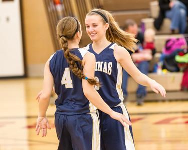 2014-02-14 Aquinas Girls Basketball vs Central