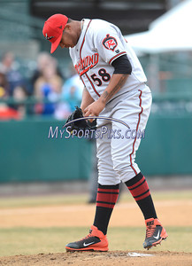 4/5/2014 Mike Orazzi | Staff Richmond Flying Squirrels' Adalberto Mejia (58) in New Britain.