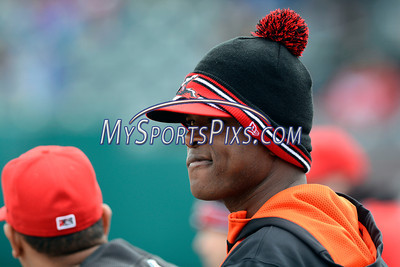 4/4/2014 Mike Orazzi | Staff A Richmond Flying Squirrels player in New Britain Friday at Rock Cats Stadium.