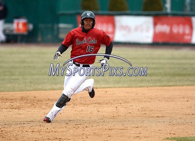4/4/2014 Mike Orazzi | Staff Rock Cats Reynaldo Rodriguez (16) during Friday's game with the Richmond Flying Squirrels in New Britain.