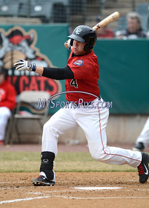 4/4/2014 Mike Orazzi | Staff Rock Cat's Brad Boyer (4) during Friday's game with the Richmond Flying Squirrels in New Britain.