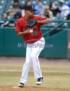 4/4/2014 Mike Orazzi | Staff Rock Cat's Adrian Salcedo (30) on the mound during Friday's game with the Richmond Flying Squirrels in New Britain.