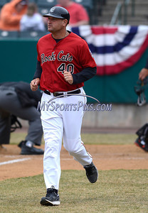 4/4/2014 Mike Orazzi | Staff Rock Cats Manager Jeff Smith (40) during Friday's game with the Richmond Flying Squirrels in New Britain.