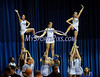 2/15/2014 Mike Orazzi | Staff<br /> Central Connecticut State University cheerleaders during Saturday's basketball game with Sacred Heart University.