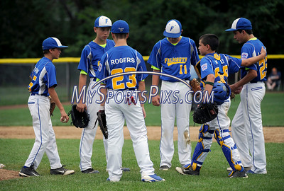 8/3/2014 Mike Orazzi | Staff The Maine infield during a Sunday Vermont win over at Breen Field in Bristol.