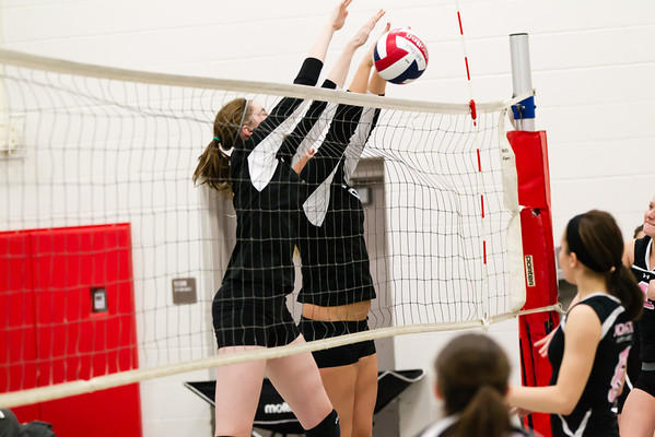 2014-03-23 Viterbo Volley Ball at Lincoln Middle