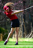 5/1/2014 Mike Orazzi | StaffConard High School's Emily Ledwith during Thursday's match with Berlin at the Timberlin Golf Club.