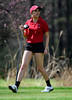 5/1/2014 Mike Orazzi | StaffConard High School's Rebecca Palma during Thursday's match with Berlin at the Timberlin Golf Club.