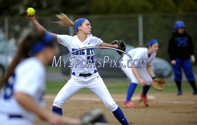 4/11/2014 Mike Orazzi | Staff Southington's Kendra Friedt (15) during Friday's softball game with Bristol Eastern at SHS.