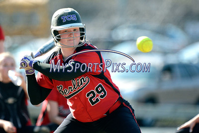 4/17/2014 Mike Orazzi | Staff Berlin's Kaitlyn Guild(29) at Sage Park in Berlin against Bristol Central.