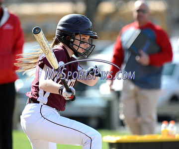 4/17/2014 Mike Orazzi | Staff Bristol Central's Brittany Stancavage (15) at Sage Park in Berlin against Berlin Thursday.