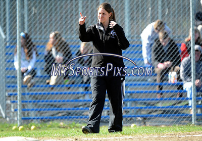 4/17/2014 Mike Orazzi | Staff Bristol Central's Nicole Shook at Sage Park in Berlin against Berlin Thursday.