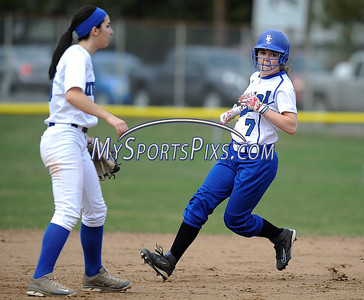 4/11/2014 Mike Orazzi | Staff Bristol Eastern's Jen Tabacco (7) during Friday's softball game with Southington.