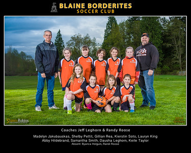 Blaine Youth Soccer, Spring 2014 8x10 Team