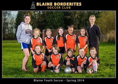 Blaine Youth Soccer, Spring 2014 5x7 Team