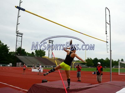7/19/2014 Mike Orazzi | Staff Megan Acquavella during the pole vault at the Nutmeg State Games at Veteran's Memorial Stadium, Willowbrook Park in New Britain on Saturday morning.