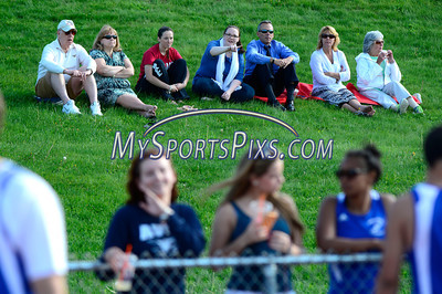 5/20/2014 Mike Orazzi | Staff Spectators during Tuesday's meet between Eastern and Central at BC.