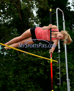 7/19/2014 Mike Orazzi | Staff Laurel Bailey during the pole vault at the Nutmeg State Games at Veteran's Memorial Stadium, Willowbrook Park in New Britain on Saturday morning.
