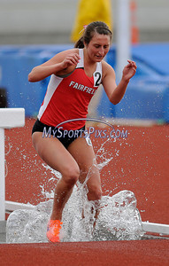 3/22/2014 Mike Orazzi | Staff Fairfield University's Jacqueline Willsey in the women's 3000 meter steeplechase during the Central Connecticut Track & Field Meet in New Britain Saturday afternoon.