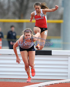 3/22/2014 Mike Orazzi | Staff Jessica Soja in the women's 3000 meter steeplechase during the Central Connecticut Track & Field Meet in New Britain Saturday afternoon.