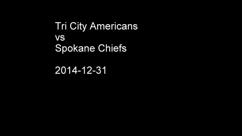 2014-12-31 Tri City Americans vs Spokane Chiefs