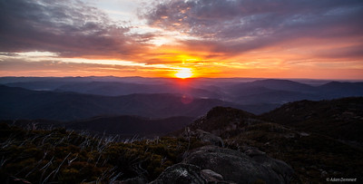 Last Sunset of 2015, from the Horn, Mount Buffalo