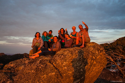 Watching the Last Sunset of 2015 from The Horn,  Mount Buffalo with this Crazy crew