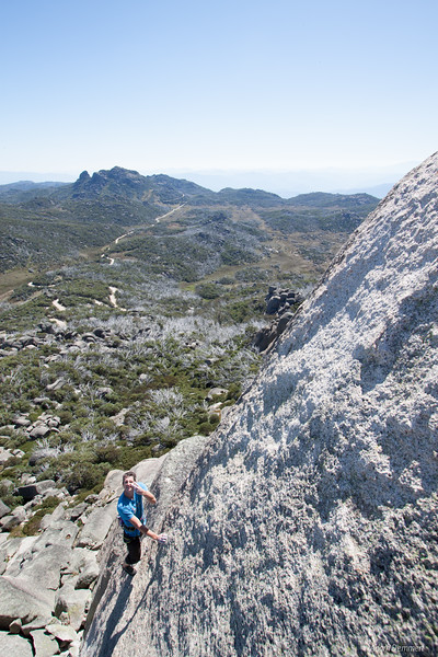 An early Morning Ascent of Peroxide Bolnde, The Horn, Mount Buffalo