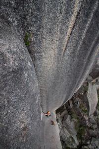 Ben Wiessner on  Backless, Mount Buffalo