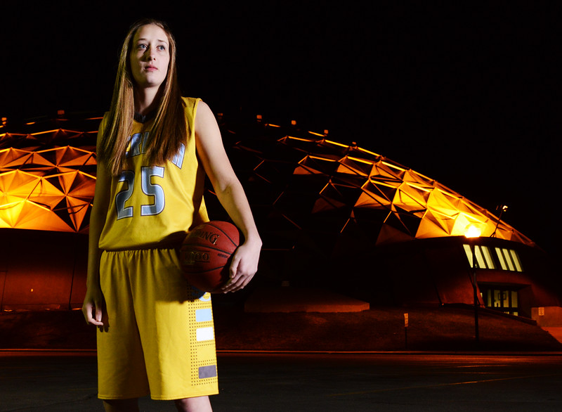 2015 Winter Sports Athlete of the Year Tiana Hanson, Sheridan College womens basketball. Started all 32 games this season after starting in 0 last year. Averaged 20.2 points and 10.5 rebounds a game (both team highs). Hanson scored 40+ points twice this season. Shot 52% from the field and 79% from the free-throw line. Her 288 free-throw attempts were the most in the country. Sheridan finished 25-7 on the season. She signed to play basketball at Montana State University-Billings. (Justin Sheely/The Sheridan Press)