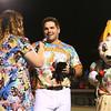 8-6-15<br /> Jackrabbits vs Sliders<br /> Shea Molitor smiles as he's interviewed by Jessica Green after the Jackrabbits win.<br /> Kelly Lafferty Gerber | Kokomo Tribune