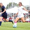 8-19-15<br /> Kokomo vs Oak Hill soccer<br /> Taylor Coram goes for the goal against Oak Hill's Maria Buckler.<br /> Kelly Lafferty Gerber | Kokomo Tribune