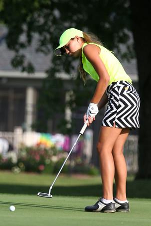 8-5-15<br /> Girls Golf-Western<br /> Western 1 Lauren Tuchscherer<br /> Kelly Lafferty Gerber | Kokomo Tribune