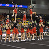 ERHS Cheer performing during round 2 at State Championships.