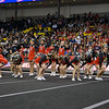 ERHS Cheer performing in round 1 at State Championships.  In center left to right Sophmore Cara Lasam, Senior Gabby Fernando, Junior Bethany Eppard