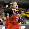 ERHS Cheer performing during round 2 at State Championships.  Senior Linzze Williams