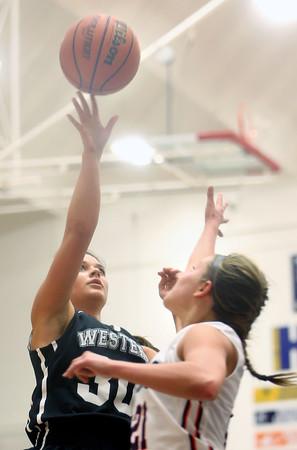 12-19-15<br /> Lewis Cass vs Western girls basketball<br /> Western's Clair Lechner<br /> Kelly Lafferty Gerber   Kokomo Tribune