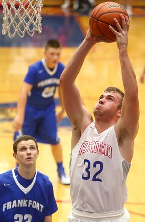 12-12-15<br /> Kokomo vs Frankfort boys basketball<br /> Kokomo's Kyle Wade<br /> Kelly Lafferty Gerber   Kokomo Tribune