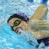 Boys and girls swimming at KHS between Kokomo and Northwestern on Dec., 13, 2015. Northwestern girls Kathleen Babcock swimming in the 400 relay.<br />  Tim Bath | Kokomo Tribune