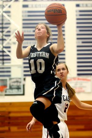 12-19-15<br /> Lewis Cass vs Western girls basketball<br /> Western's Sarah Connolly<br /> Kelly Lafferty Gerber | Kokomo Tribune