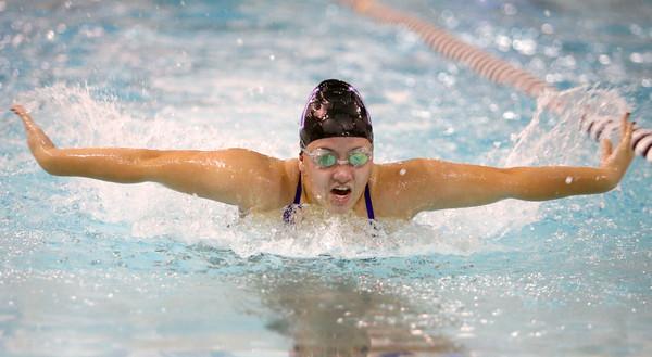 12-3-15<br /> Northwestern vs Logansport swim meet<br /> Northwestern's Grace Boruff butterfly<br /> Kelly Lafferty Gerber | Kokomo Tribune