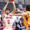 12-15-15<br /> Taylor vs Alexandria boys basketball<br /> Taylor's Malin Vazquez shoots a three.<br /> Kelly Lafferty Gerber | Kokomo Tribune