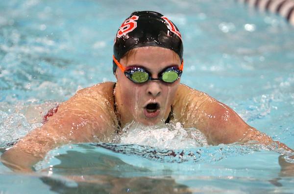 12-3-15<br /> Northwestern vs Logansport swim meet<br /> Logansport's Erika Mullins in the Girls 200 IM<br /> Kelly Lafferty Gerber | Kokomo Tribune