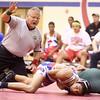 12-2-15<br /> KHS vs EHS wrestling<br /> Eastern's Dakota Spencer and Kokomo's TT Allen<br /> Kelly Lafferty Gerber | Kokomo Tribune