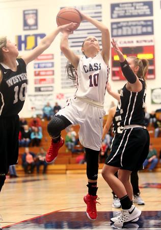 12-19-15<br /> Lewis Cass vs Western girls basketball<br /> Cass' Savanna Thompson<br /> Kelly Lafferty Gerber   Kokomo Tribune