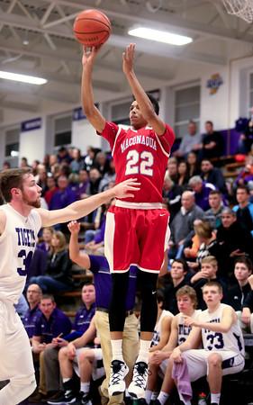 12-18-15<br /> Northwestern vs Maconaquah boys basketball<br /> Maconaquah's Brayden Marley<br /> Kelly Lafferty Gerber   Kokomo Tribune