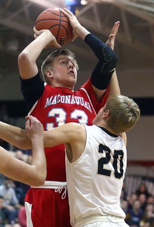 12-29-15<br /> Peru vs Maconaquah boys basketball<br /> Maconaquah's Wyatt Hughes<br /> Kelly Lafferty Gerber   Kokomo Tribune